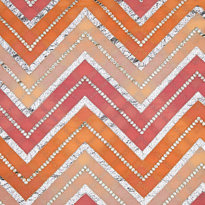 Peach Georgette Fabric Placement Print With Gota Foil Work