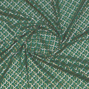 Bottle Green Uppada Silk Fabric With Sequin Work