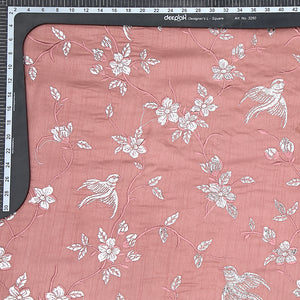 Blush Pink Pure Tusser Silk With Gota Foil Work