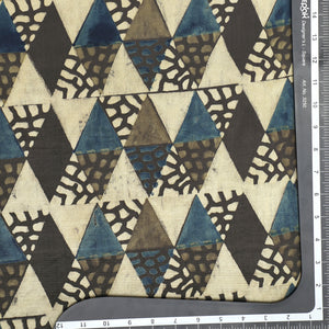 Cream Gajji Silk Ajrak Print Fabric