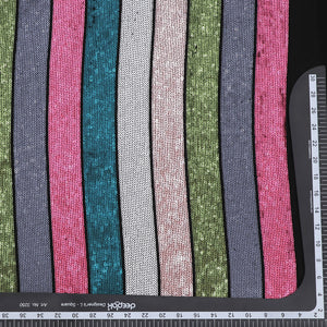 Multicolor Sequin on Georgette Fabric