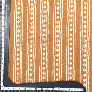 Mustard Yellow Pure Cotton Printed Fabric