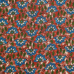 Kalamkari Print On Pure Cotton Fabric
