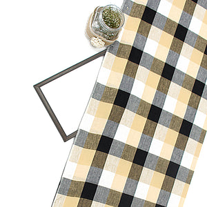 Printed Checks On South Pure Cotton Fabric