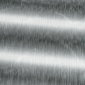 Dark Grey & White Shaded Shimmer Satin Pleated Fabric With Foil