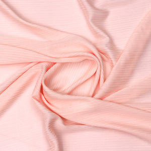 Peach Imported Wrinkled Georgette Fabric