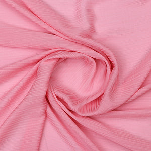 Baby Pink Imported Wrinkled Georgette Fabric