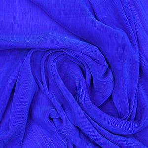Royal Blue Georgette Pleated Fabric