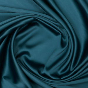 Bottle Green Plain Imported Satin Fabric