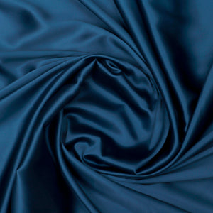 Teal Plain Imported Satin Fabric