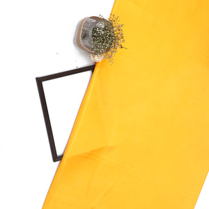 Mustard Yellow Plain Imported Satin Fabric