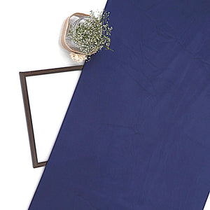 Navy Blue Plain Imported Satin Fabric