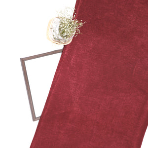 Maroon Ice Velvet Fabric