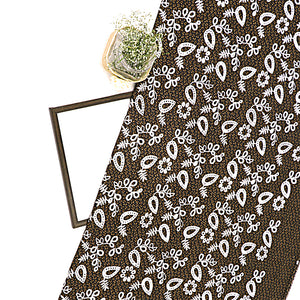 Imported Printed Georgette Fabric With Cutwork Embroidery