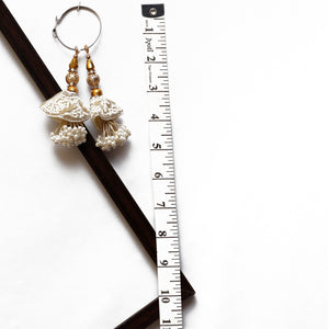 White Latkan With Sequin, Bead & Pearl (Set Of 2)