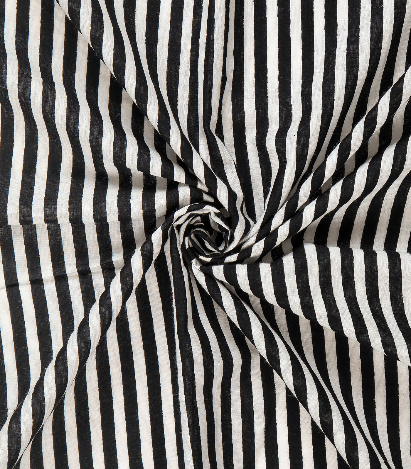 Stripes Print On Pure Cotton Fabric