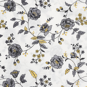 Dyeable White Embroidered Cotton Fabric With Thread-work