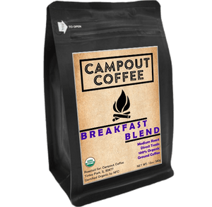 BREAKFAST BLEND ORGANIC GROUND COFFEE 12 OUNCE 2PK - Campout Coffee