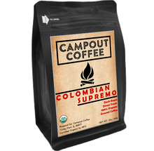 Load image into Gallery viewer, COLOMBIAN SUPREMO ORGANIC GROUND COFFEE 12 OUNCE - Campout Coffee