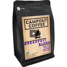 Load image into Gallery viewer, BREAKFAST BLEND ORGANIC GROUND COFFEE 12 OUNCE 2PK - Campout Coffee