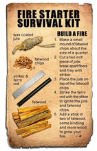 Load image into Gallery viewer, Pocket Survival Fire Starting Kit