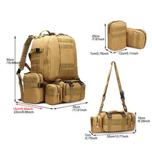 Load image into Gallery viewer, Prepper Tactical 4 in 1 Military Molle Backpack