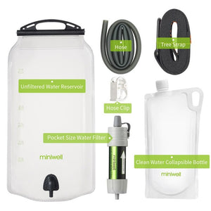 Prepper Miniwell gravity water filter system (FREE SHIPPING)
