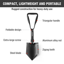 Load image into Gallery viewer, Prepper WORKPRO Military Tactical Folding Shovel
