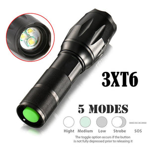 Prepper 3XT6 LED Zoomable Waterproof Flashlight  15000LM (FREE SHIPPING)