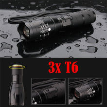 Load image into Gallery viewer, Prepper 3XT6 LED Zoomable Waterproof Flashlight  15000LM (FREE SHIPPING)