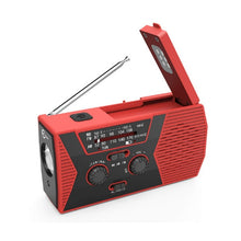 Load image into Gallery viewer, EDC Emergency Hand Crank Solar USB Charger with Weather Radio