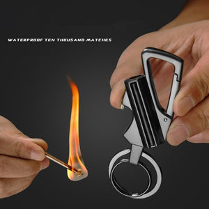 Prepper Permanent Waterproof Keychain Flint Fire Starter