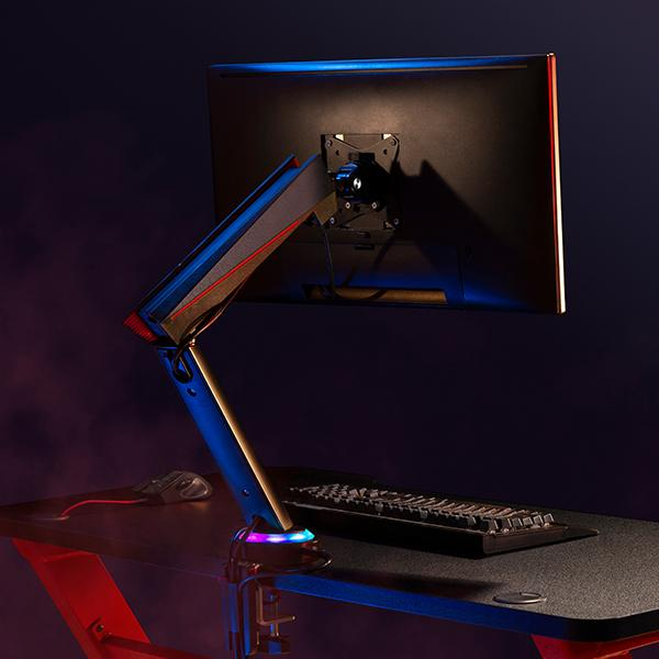 OCD Single LED Gaming Monitor Arm