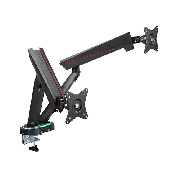 OCD Dual LED Gaming Monitor Arm