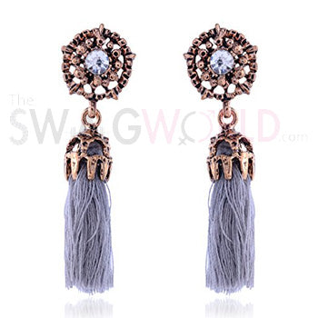 Abigail Grey Earrings - TheSwagWorld