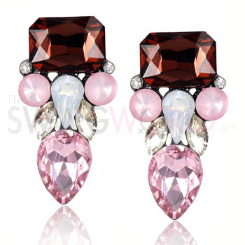 Amyra Pink Earrings - TheSwagWorld