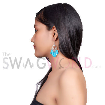 Ashley Blue Earrings - TheSwagWorld