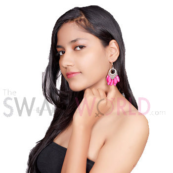 Ashley Pink Earrings - TheSwagWorld