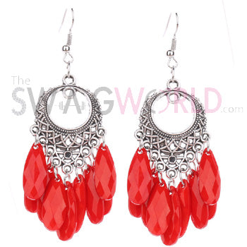 Ashley Red Earrings - TheSwagWorld