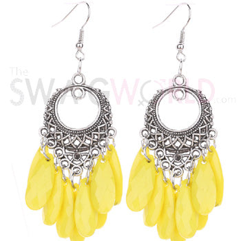 Ashley Yellow  Earrings - TheSwagWorld