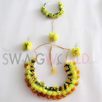 Basant Floral Necklace Set - TheSwagWorld