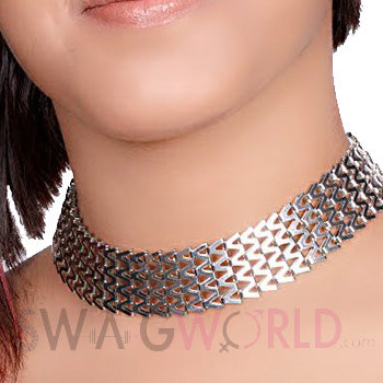 Beonica Silver Choker - TheSwagWorld