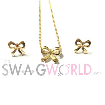 Bow Necklace Set - TheSwagWorld