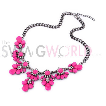 Candy Fuchsia Pink Necklace - TheSwagWorld