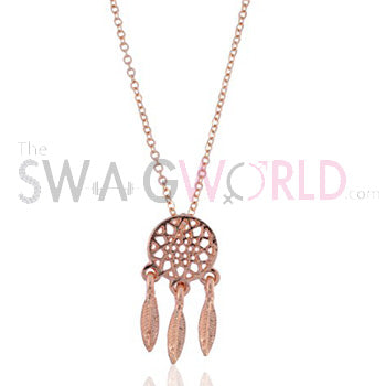 Dreamcatcher Golden Necklace - TheSwagWorld