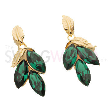 Green Foliate Earrings - TheSwagWorld