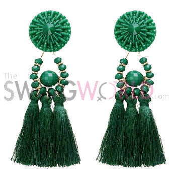 Kayla Green Earrings - TheSwagWorld