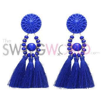 Kayla N Blue Earrings - TheSwagWorld