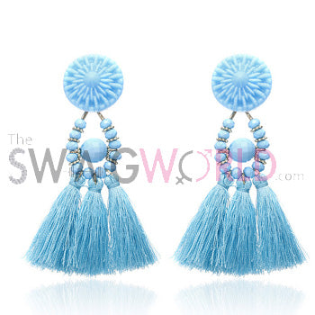 Kayla S Blue Earrings - TheSwagWorld