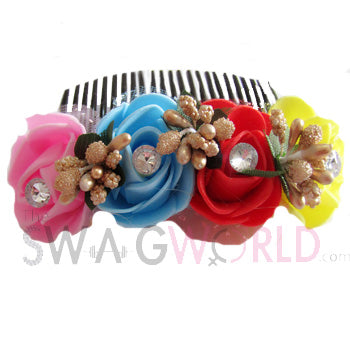 Multicolor Floral Comb - TheSwagWorld